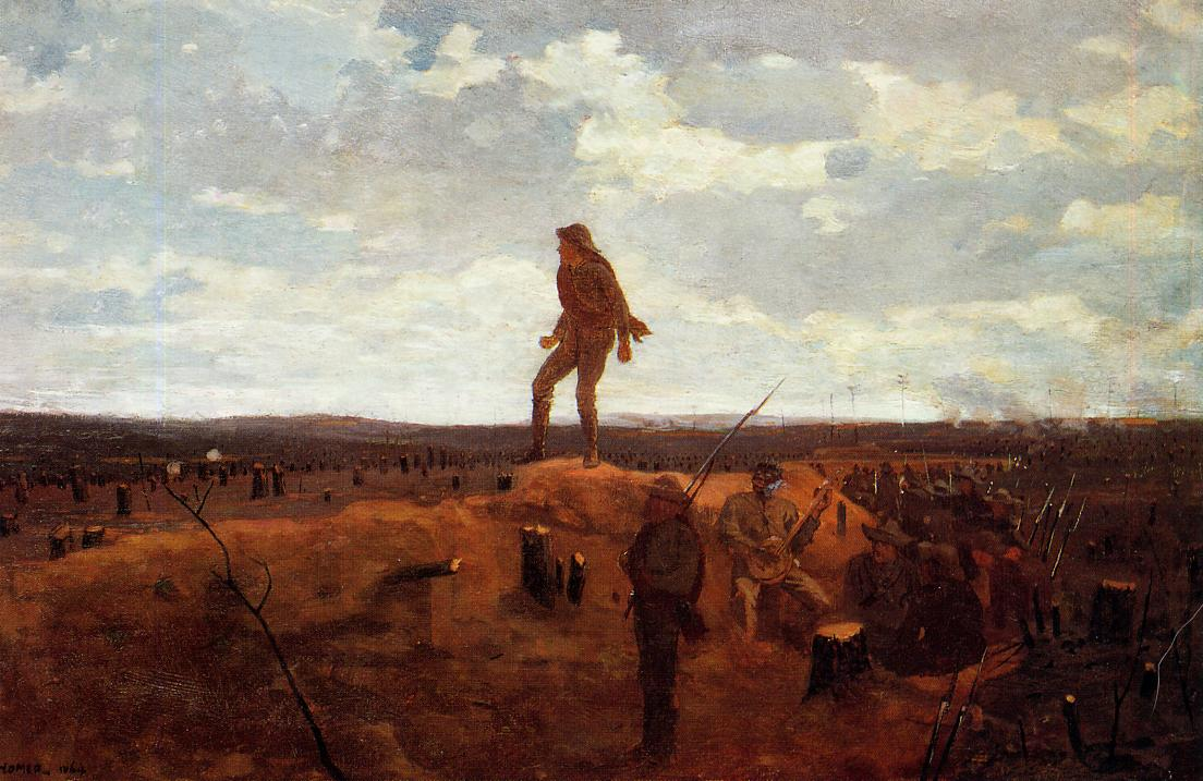 Defiance (aka Inviting a Shot before Petersburg) 1864 | Homer Winslow | Oil Painting