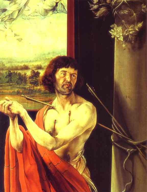 St Sebastian Detail 1510-1515 | Matthias Grunewald | Oil Painting