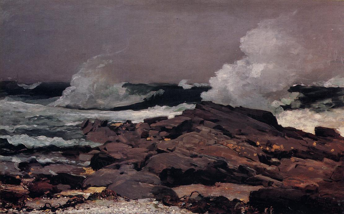 Eastern Point Prout Neck 1900   Homer Winslow   Oil Painting