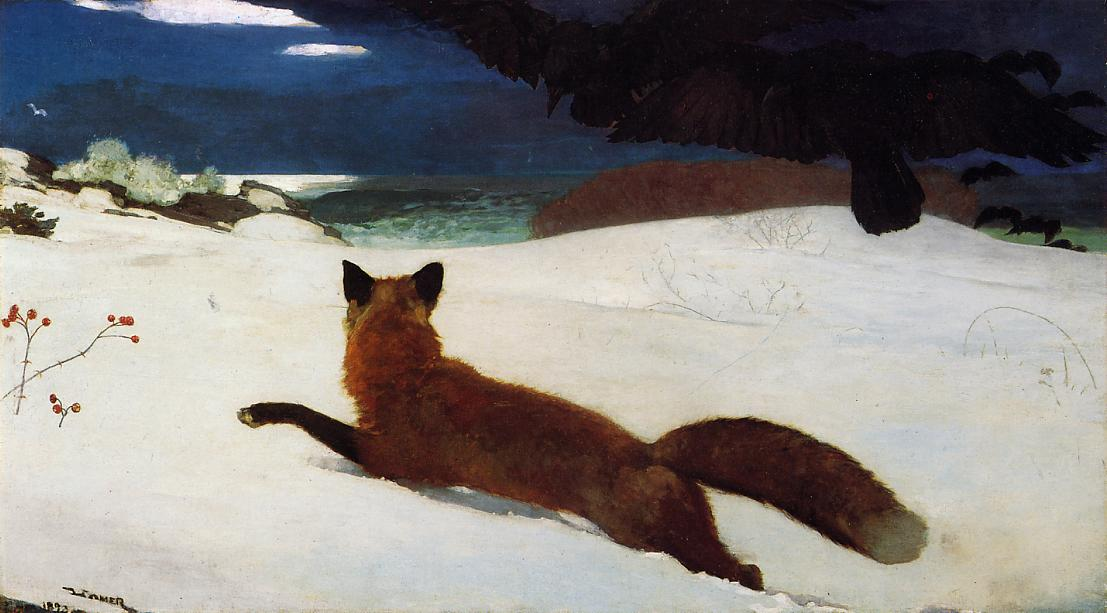 Fox Hunt 1893 | Homer Winslow | Oil Painting