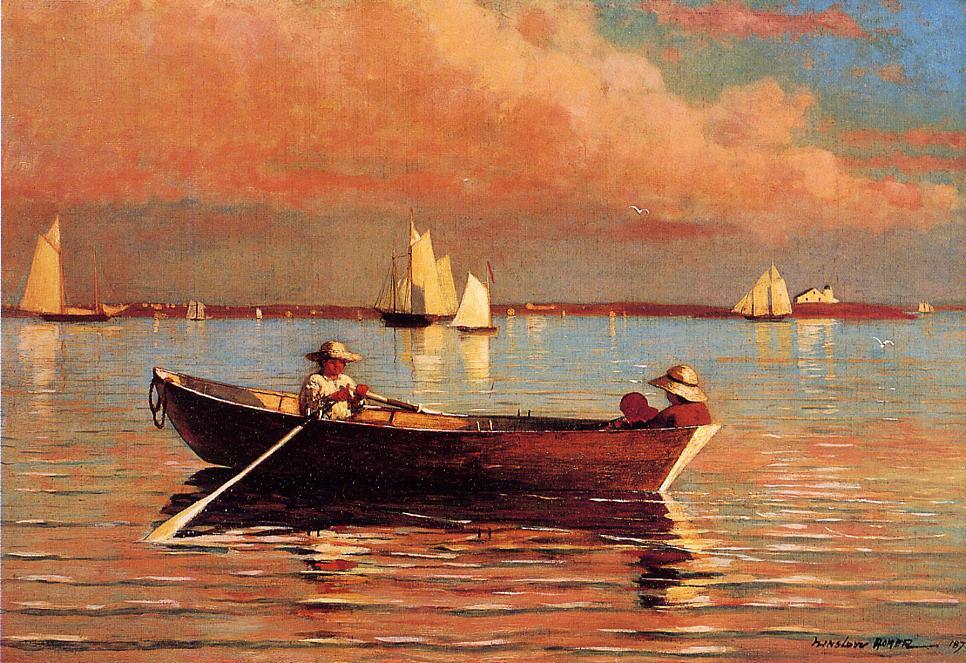 Gloucester Harbor 1873 | Homer Winslow | Oil Painting