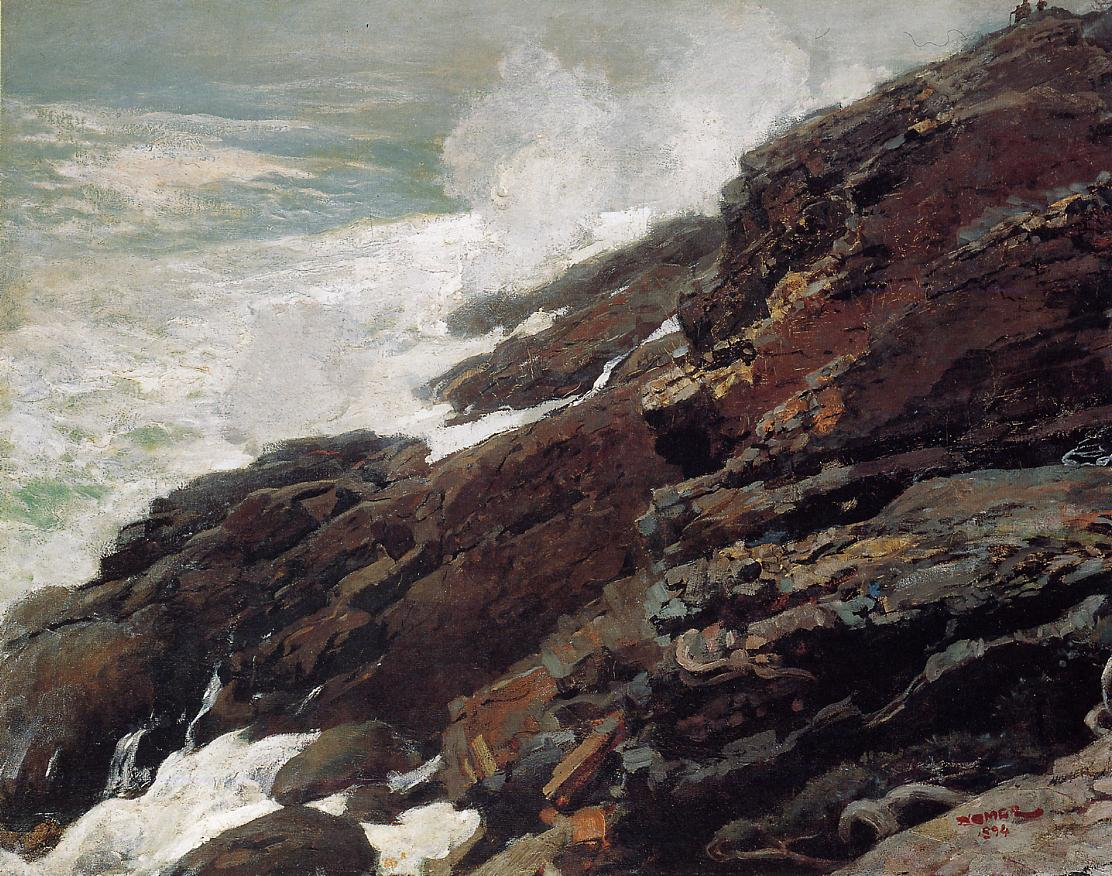 High Cliff Coast of Maine 1894 | Homer Winslow | Oil Painting