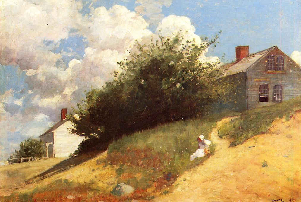 Houses on a Hill 1879 | Homer Winslow | Oil Painting