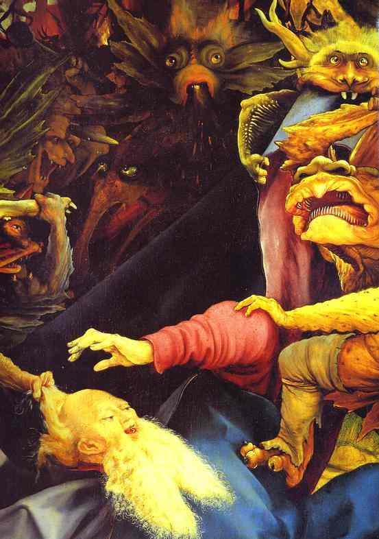 The Temptation Of St Anthony Detail 1 1510-1515 | Matthias Grunewald | Oil Painting
