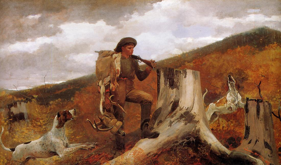 Huntsman and Dogs 1891 | Homer Winslow | Oil Painting