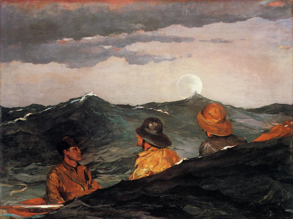 Kissing the Moon 1904 | Homer Winslow | Oil Painting