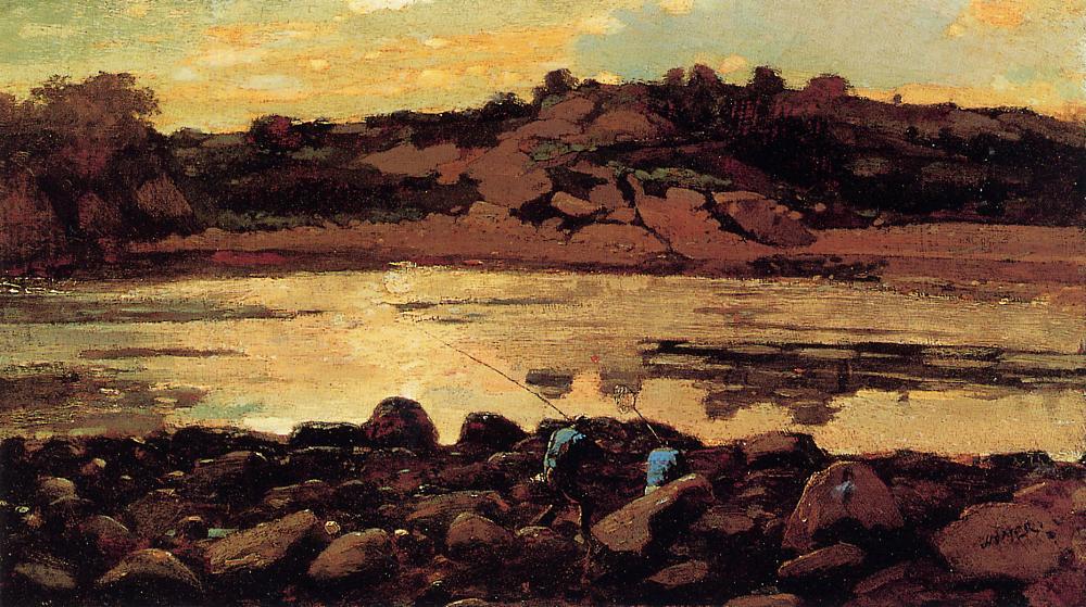 Lobster Cove Manchester Massachusetts 1869 | Homer Winslow | Oil Painting