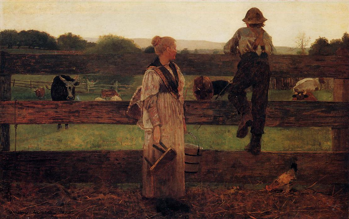Milking Time 1875 | Homer Winslow | Oil Painting