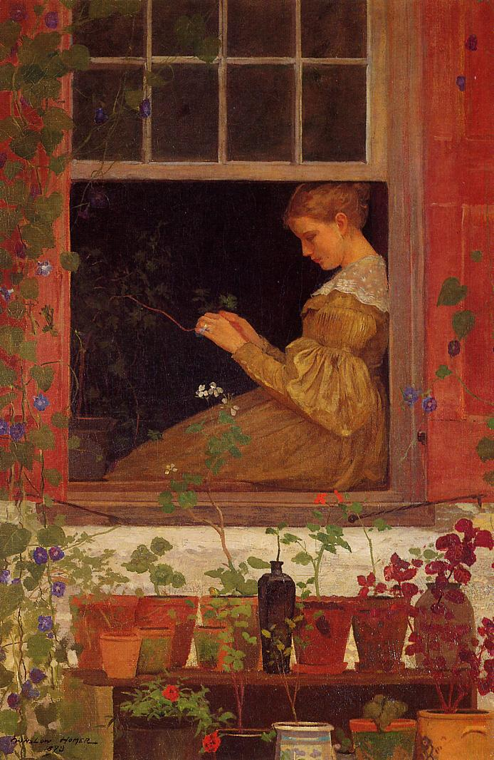 Morning Glories 1873 | Homer Winslow | Oil Painting
