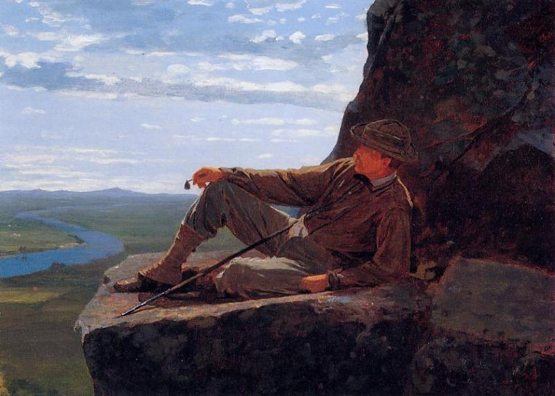 Mountain Climber Resting 1869 | Homer Winslow | Oil Painting