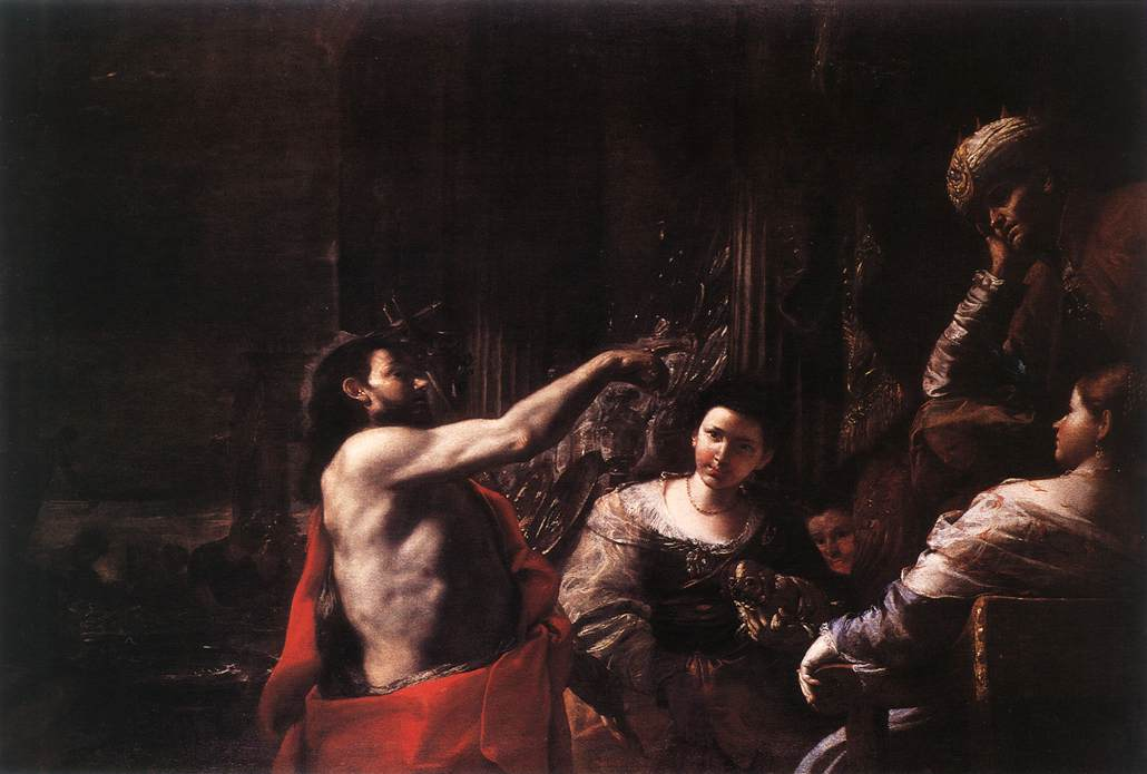 St John The Baptist Before Herod 1665 | Mattia Preti | Oil Painting