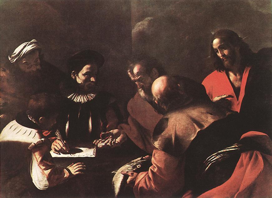 Tribute Money 1640   Mattia Preti   Oil Painting
