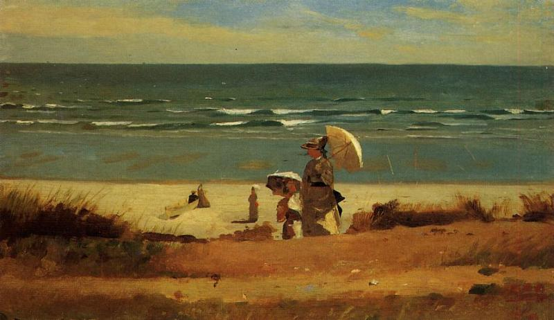 On the Beach Marshfield 1872 | Homer Winslow | Oil Painting