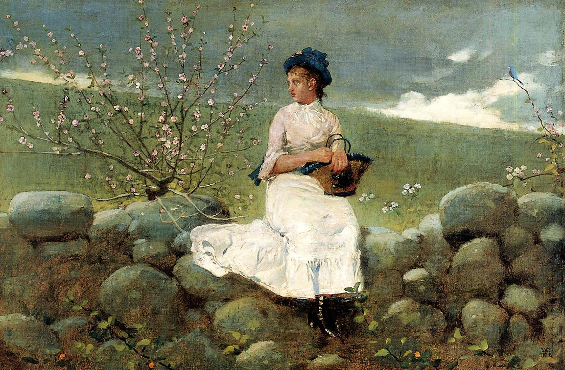 Peach Blossoms 1878 | Homer Winslow | Oil Painting