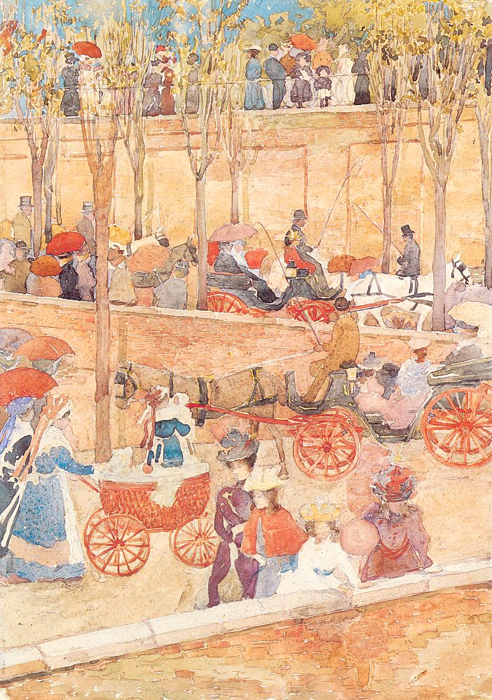 Afternoon Pincian Hill | Maurice B Prendergast | Oil Painting