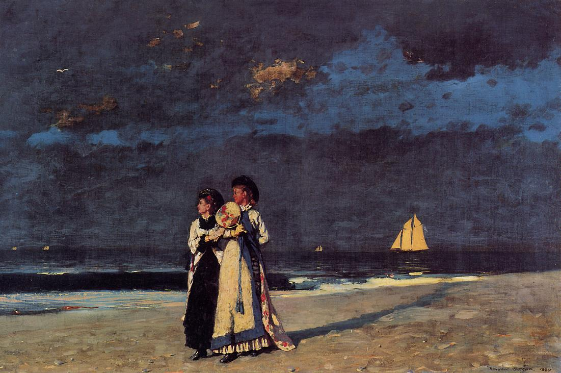 Promenade on the Beach 1880 | Homer Winslow | Oil Painting