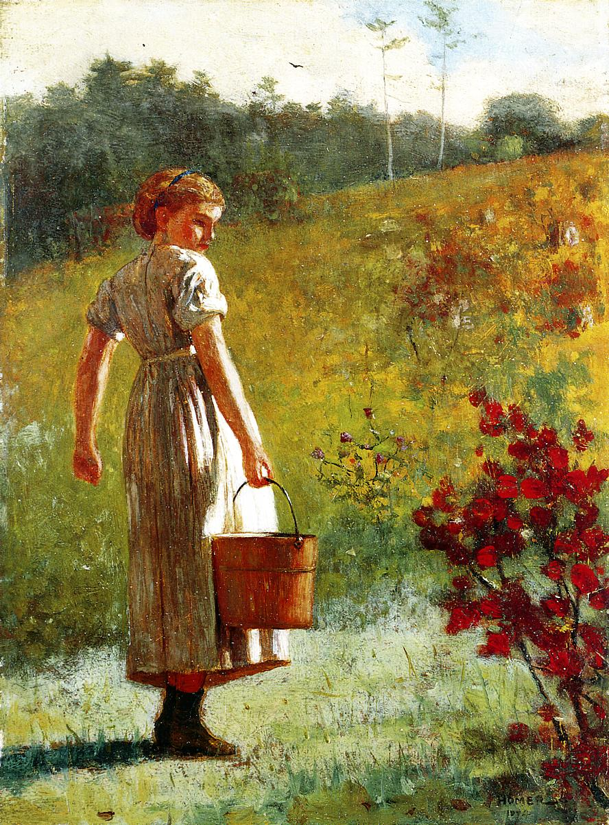Returning from the Spring 1874 | Homer Winslow | Oil Painting