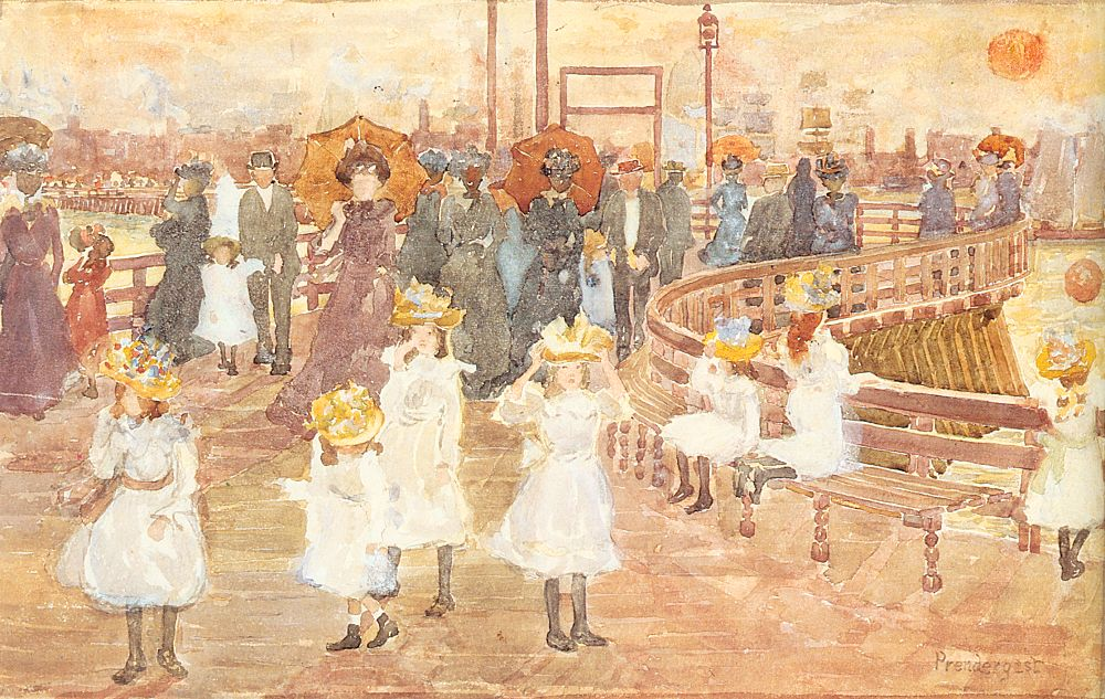 South Boston Pier | Maurice B Prendergast | Oil Painting