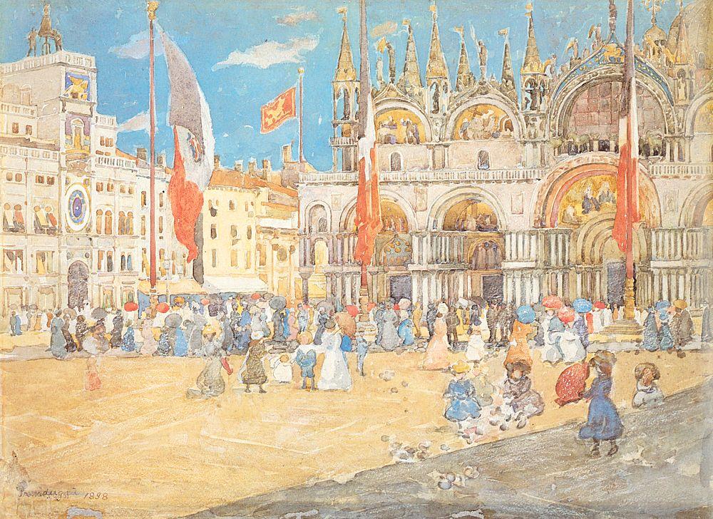 St Marks Venice | Maurice B Prendergast | Oil Painting