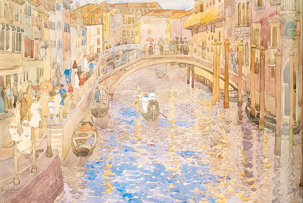 Venetian Canal Scene | Maurice B Prendergast | Oil Painting