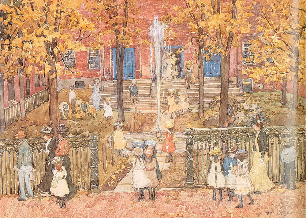 West Church Boston | Maurice B Prendergast | Oil Painting