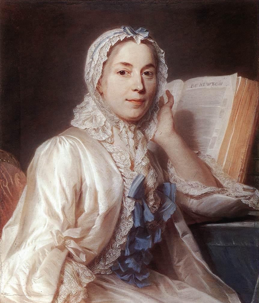 Mlle Ferrand Meditating On Newton 1753 | Maurice Quentin De La Tour | Oil Painting