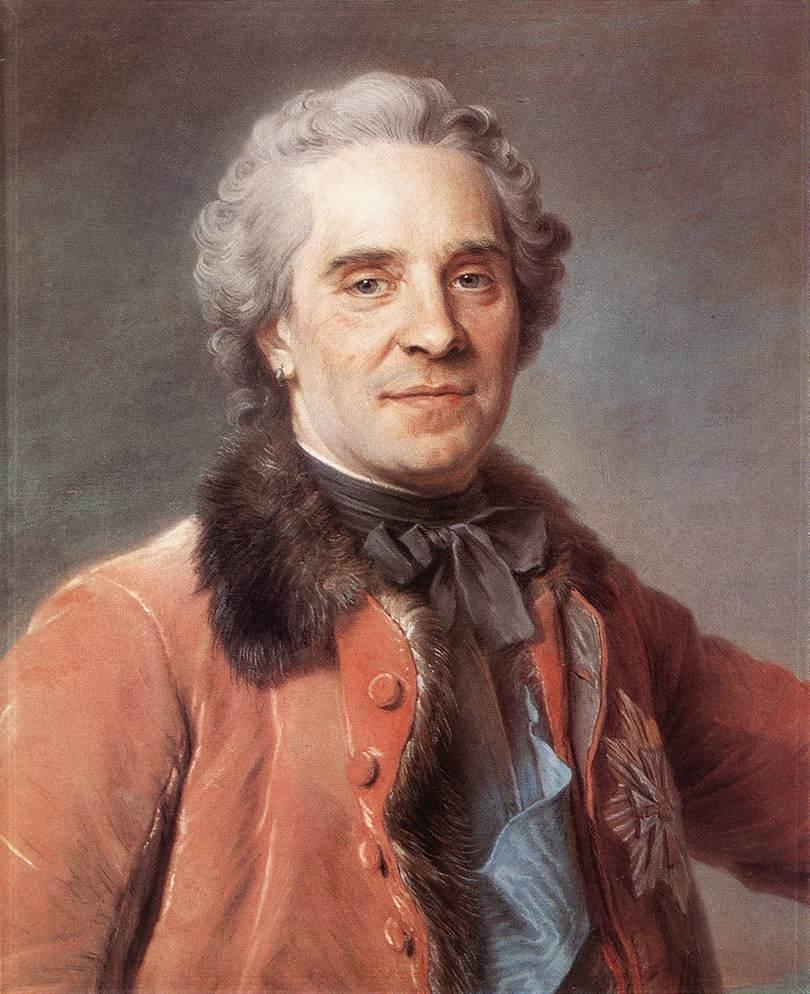 Maurice Comte De Saxe Marshal Of France 1748 | Maurice Quentin De La Tour | Oil Painting