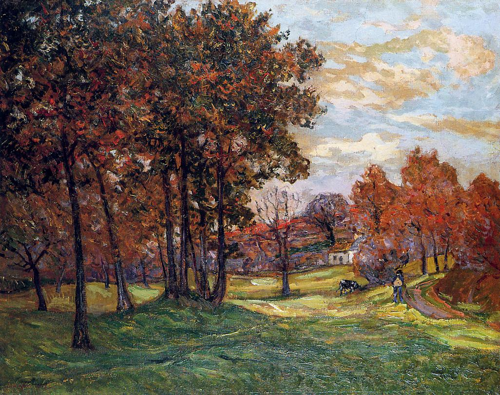 Autumn Landscape at Goulazon Finistere 1908 | Maxime Maufra | Oil Painting