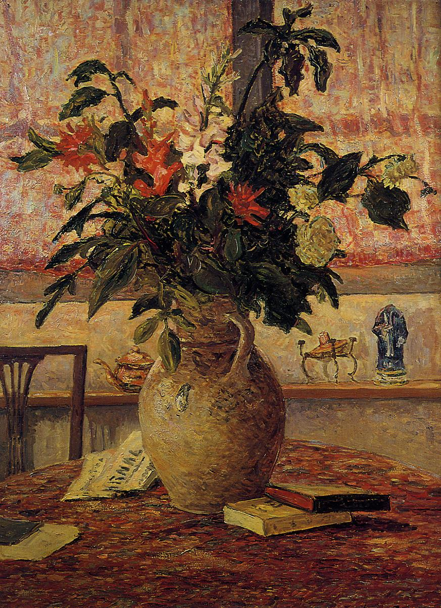 A Bouquet of Flowers in front of a Window | Maxime Maufra | Oil Painting