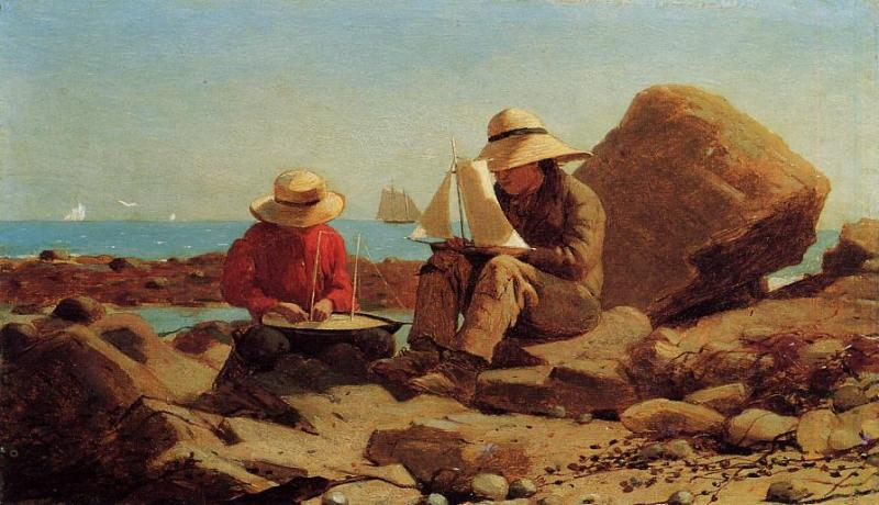 The Boat Builders (aka Ship Building) 1873 | Homer Winslow | Oil Painting