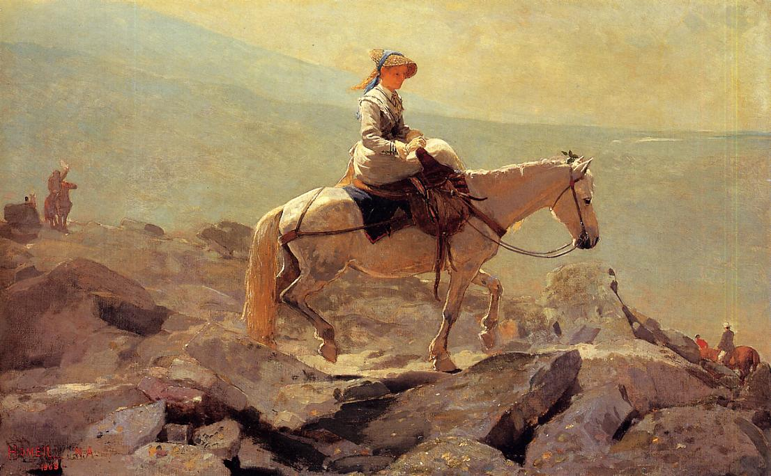 The Bridle Path White Mountains 1868 | Homer Winslow | Oil Painting