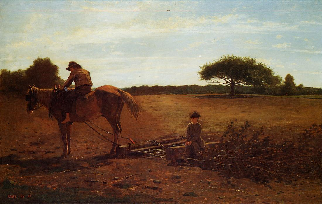 The Brush Harrow 1865 | Homer Winslow | Oil Painting
