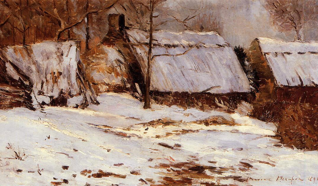Cottages in the Snow 1891 | Maxime Maufra | Oil Painting