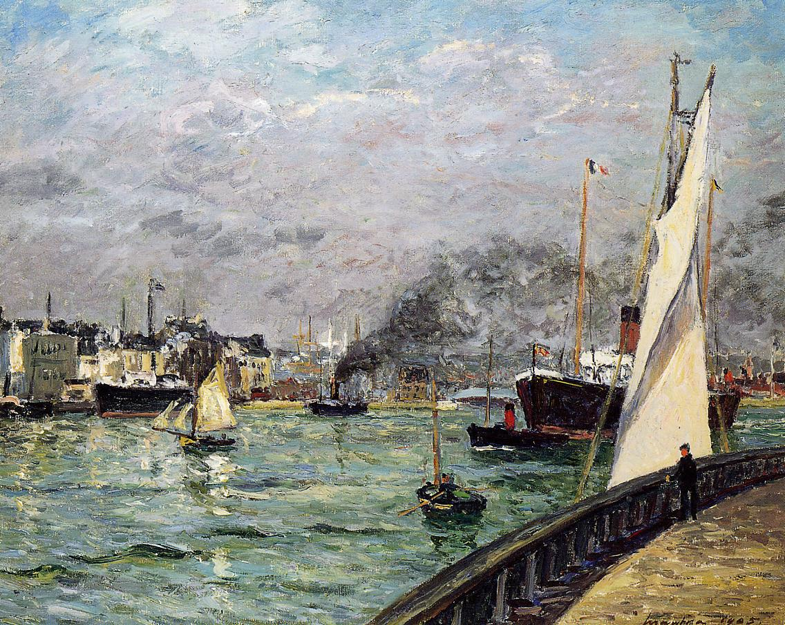 Departure of a Cargo Ship Le Havre 1905 | Maxime Maufra | Oil Painting