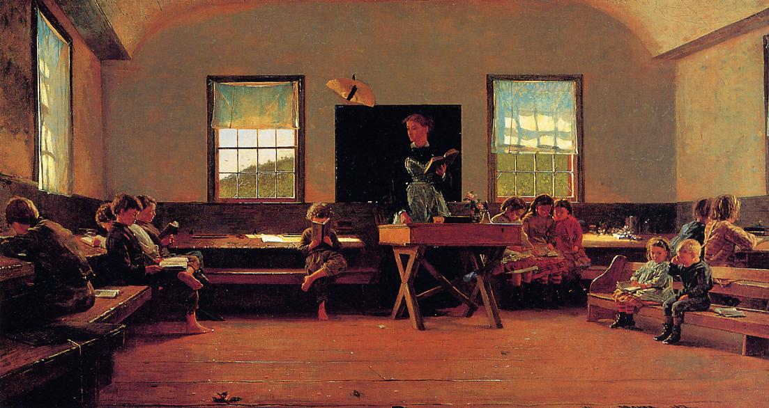 The Country School 1871 | Homer Winslow | Oil Painting