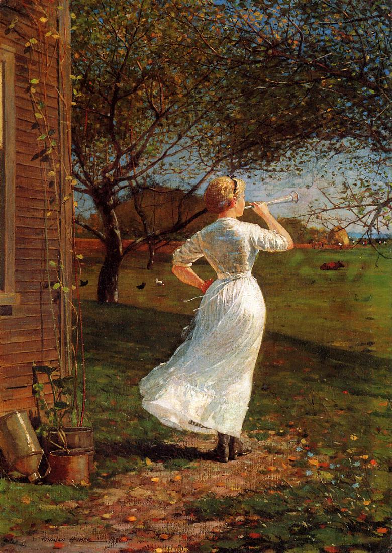The Dinner Horn 1870 | Homer Winslow | Oil Painting