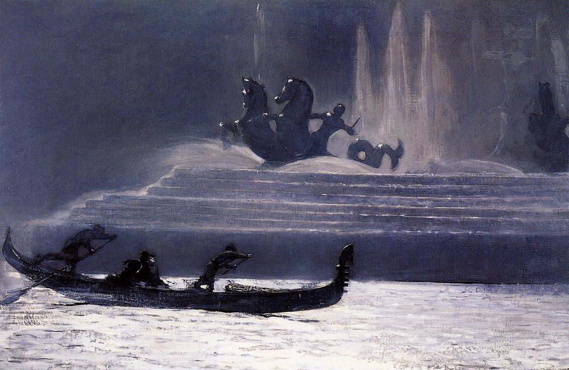 The Fountains at Night World Columbian Exposition 1893 | Homer Winslow | Oil Painting