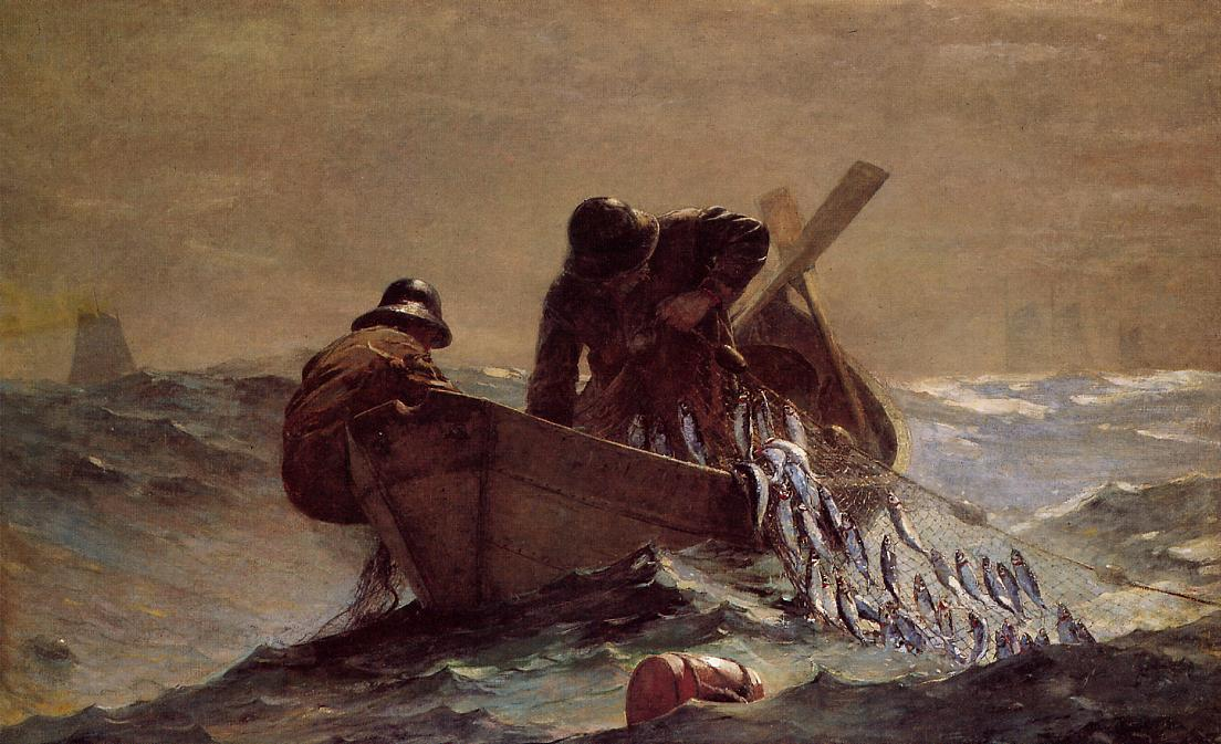 The Herring Net 1885 | Homer Winslow | Oil Painting