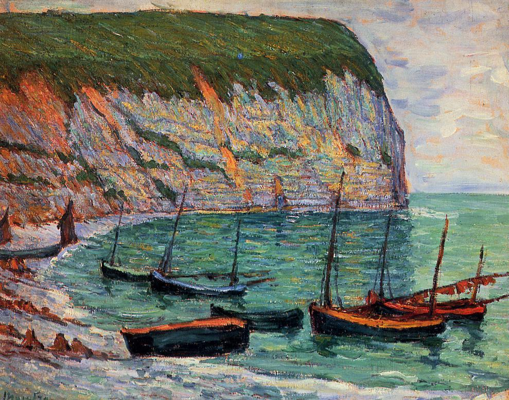 Fishing Boats on the Shore | Maxime Maufra | Oil Painting