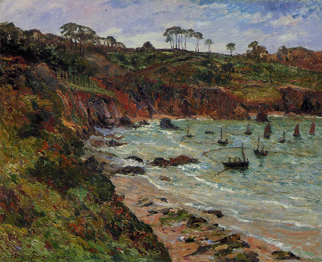 Fishing for sprats in Winter at Douarnenez 1905 | Maxime Maufra | Oil Painting