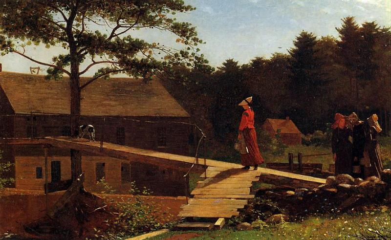 The Morning Bell (aka The Old Mill) 1871 | Homer Winslow | Oil Painting