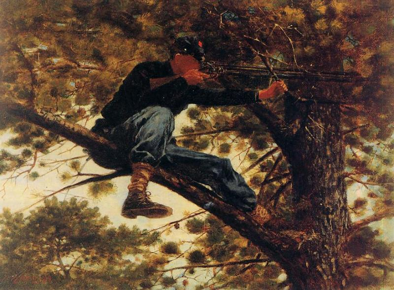 The Sharpshooter on Picket Duty 1863 | Homer Winslow | Oil Painting