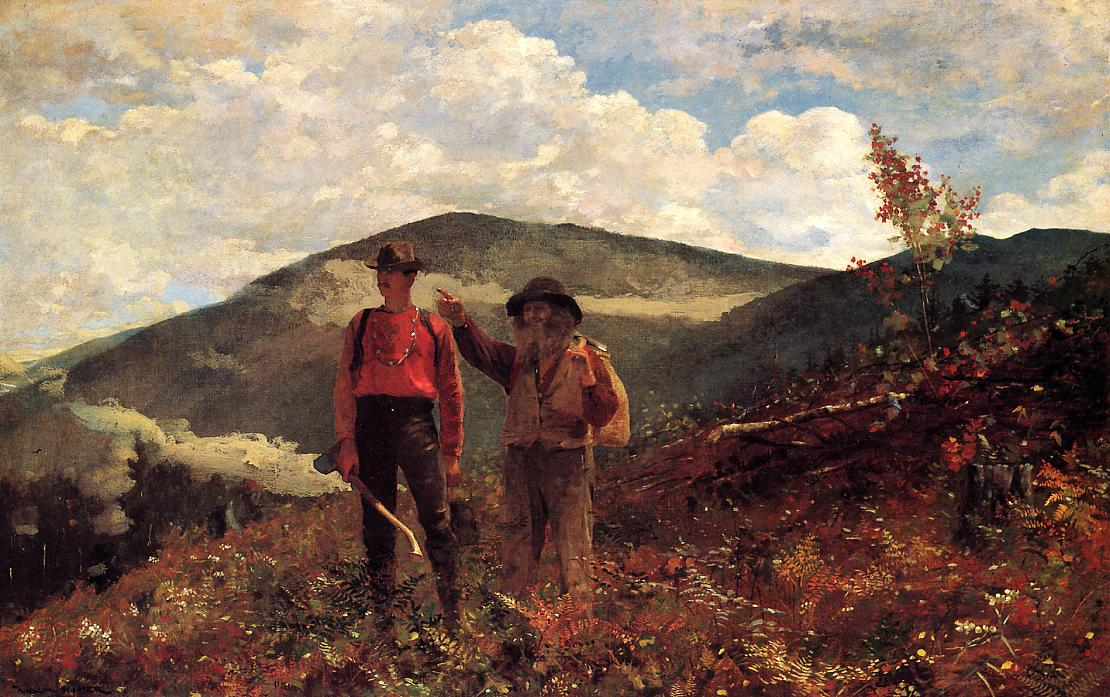 The Two Guides 1875 | Homer Winslow | Oil Painting