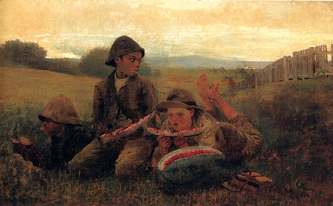 The Watermelon Boys 1876 | Homer Winslow | Oil Painting