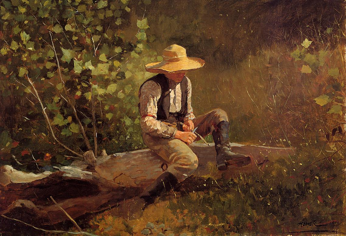 The Whittling Boy 1873 | Homer Winslow | Oil Painting
