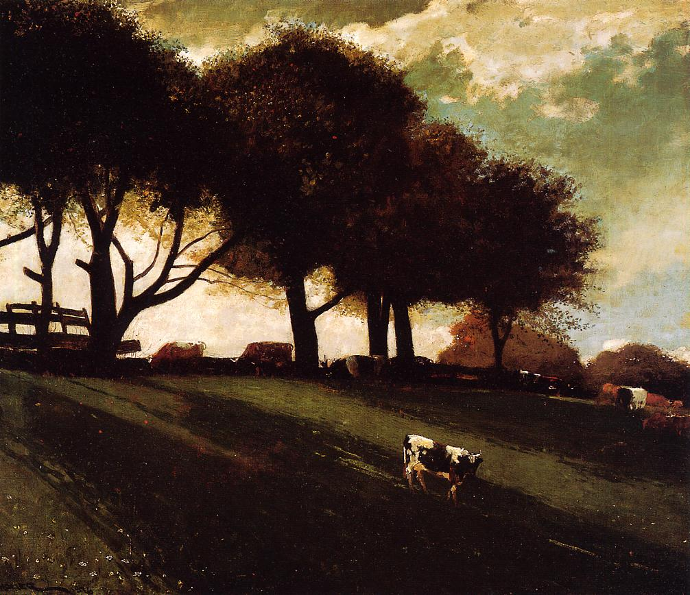 Twilight at Leeds New York 1876 | Homer Winslow | Oil Painting