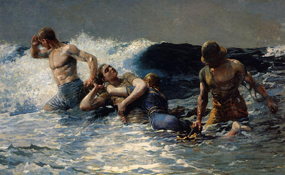 Undertow 1886   Homer Winslow   Oil Painting