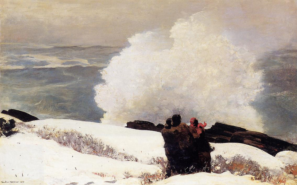 Watching the Breaker - A High Sea 1896 | Homer Winslow | Oil Painting