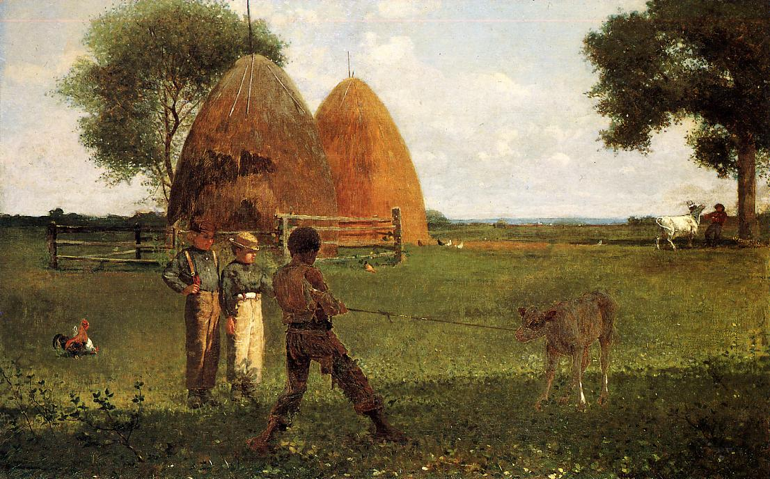 Weaning the Calf 1875 | Homer Winslow | Oil Painting