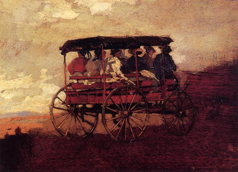 White Mountain Wagon 1869 | Homer Winslow | Oil Painting